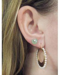 Irene Neuwirth - Green Chrysoprase Diamond Heart Stud Earrings - Lyst