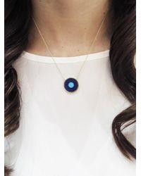 Jennifer Meyer - Blue Lapis Inlay And Turquoise Center Evil Eye Pendant Necklace - Lyst