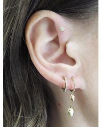 Raphaele Canot - Metallic Diamond Deco Mini Hoop Earrings - Lyst