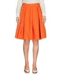 RED Valentino - Orange Knee Length Skirt - Lyst
