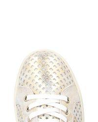 Leather Crown Metallic Low-tops & Sneakers