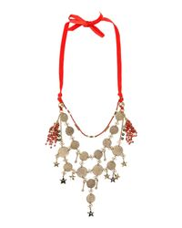 Erickson Beamon - Red Necklace - Lyst