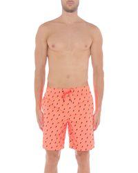 Sundek - Orange Swimming Trunks for Men - Lyst
