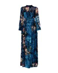 Alberta Ferretti - Blue Long Dress - Lyst