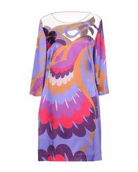 Alberta Ferretti Purple Short Dress