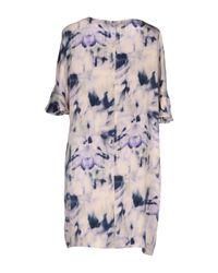 Shirtaporter - Purple Short Dress - Lyst