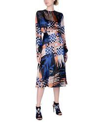 MSGM - Blue 3/4 Length Dresses - Lyst