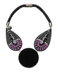 Emporio Armani - Black Necklace - Lyst