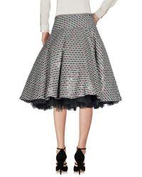Ashish - Gray Knee Length Skirt - Lyst