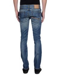 Care Label - Blue Denim Trousers for Men - Lyst