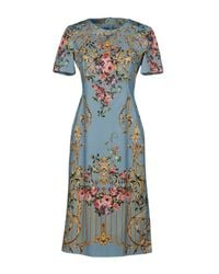 Alberta Ferretti - Blue Knee-length Dress - Lyst