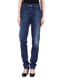 Armani - Blue Denim Pants - Lyst