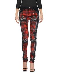 Philipp Plein - Red Denim Pants - Lyst