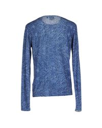 Just Cavalli - Blue Sweater for Men - Lyst