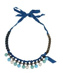 Lanvin - Blue Necklace - Lyst