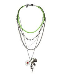 Venessa Arizaga | Green Necklace | Lyst