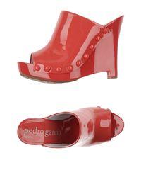 Pedro Garcia - Red Sandals - Lyst