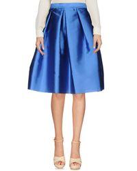 Annie P - Blue Knee Length Skirt - Lyst