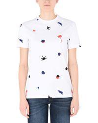 Être Cécile - White T-shirts - Lyst
