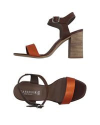 CafeNoir - Orange Sandals - Lyst