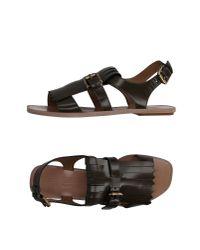 Santoni - Black Sandals - Lyst
