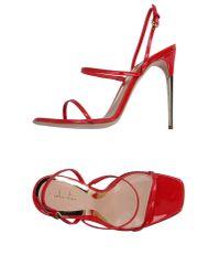 Sebastian - Red Sandals - Lyst