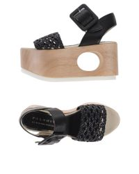 Palomitas By Paloma Barcelo' - Black Sandals - Lyst