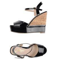 Gattinoni - Black Sandals - Lyst