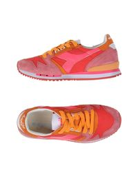 Diadora - Red Low-tops & Sneakers - Lyst