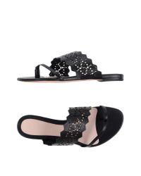 Alexander McQueen - Black Toe Post Sandal - Lyst