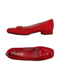 Tod's | Red Loafer | Lyst