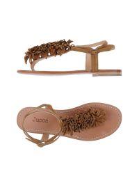 Jucca - Multicolor Toe Post Sandal - Lyst