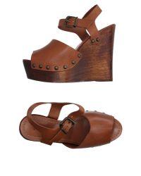 Schutz - Brown Sandals - Lyst