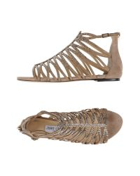 Jimmy Choo | Natural Sandals | Lyst