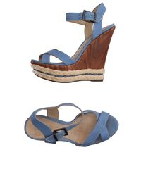 Schutz | Blue Sandals | Lyst