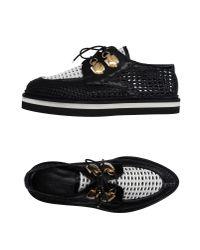 Alexander McQueen - Black Lace-up Shoe - Lyst