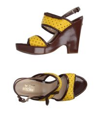Love Moschino | Yellow Sandals | Lyst