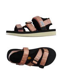 Suicoke - Black Sandals - Lyst