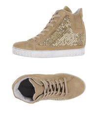 CafeNoir - Natural High-tops & Sneakers - Lyst