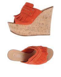 Casadei   Orange Sandals   Lyst