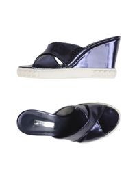 Casadei | Blue Sandals | Lyst