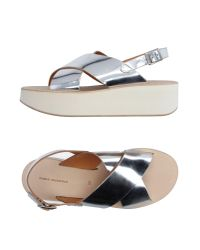 Fabio Rusconi - Metallic Sandals - Lyst