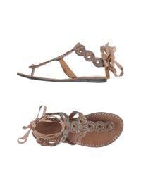 Laidbacklondon | Gray Toe Strap Sandal | Lyst