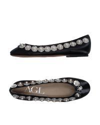 Agl Attilio Giusti Leombruni | Black Ballet Flats | Lyst