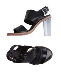 Agl Attilio Giusti Leombruni | Black Sandals | Lyst