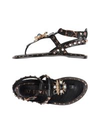 Ivy Kirzhner   Black Toe Strap Sandal   Lyst
