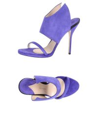 Paul Andrew | Purple Sandals | Lyst