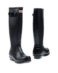 Hunter - Black Boots - Lyst