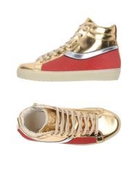 Leather Crown - Metallic High-tops & Sneakers - Lyst