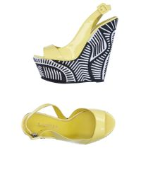 Le Silla - Yellow Sandals - Lyst